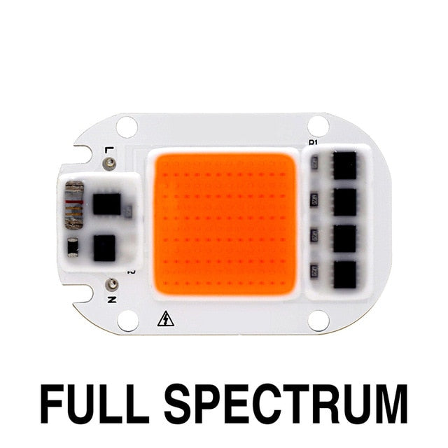 Led Grow Light Chip 20W 30W 50W 110V 220V Full Spectrum 380nm~780nm Best for Hydroponics Greenhouse Grow DIY for LED Growth Lamp