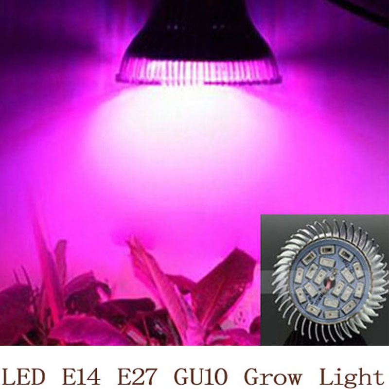 Full Spectrum LED Grow Light 18W E14 /E27/GU10 Spotlight Lamp Bulb Flower Plant Greenhouse Hydroponics System 110V 220V Grow Box