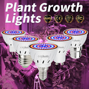 Full Spectrum Led E27 Grow Light GU10 Fitolampy 220V E14 Lamp For Indoor Grow Tent Plants Vegetables MR16 Hydroponics Bulb B22