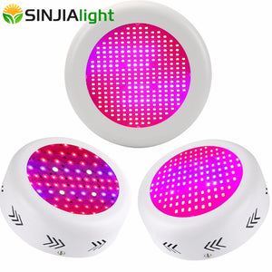 130W 150W 216W 300W UFO LED Grow Light Full Spectrum Plant Lamps UV Bulbs LED Lighting for Flowers Hydroponics Greenhouse Tent