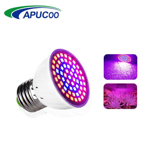LED Grow Light Lamp E27 220V Full Spectrum Phyto Lamp 60LEDs 41 Red 19 Blue Indoor Plant Lamp For Plants Vegs Hydroponic System