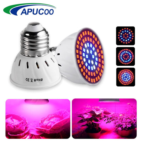E27 220V LED Grow Light Full Spectrum Indoor Fitolampy Phyto Lamp for Plants Hydroponics Flowers Vegetables Grow LED Spotlight