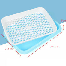 Load image into Gallery viewer, Hydroponics Seed Germination Tray Seedling Tray Sprout Plate Grow Nursery Pots Tray Vegetable Seedling Pot Plastic Nursery Tray