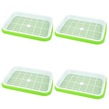 Load image into Gallery viewer, Hot Sale 4pc/set Double-layer Seed Sprouter Nursery Tray Hydroponics Basket Flower Plant Germination Tray Box Drop Sale