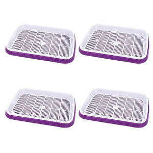 Hot Sale 4pc/set Double-layer Seed Sprouter Nursery Tray Hydroponics Basket Flower Plant Germination Tray Box Drop Sale