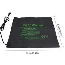 Load image into Gallery viewer, New Plant Heating Mat Seedling Flower Electric Blanket Waterproof Warm Durable Hydroponic Heating Pad 24*52CM 52*52CM 121*52CM