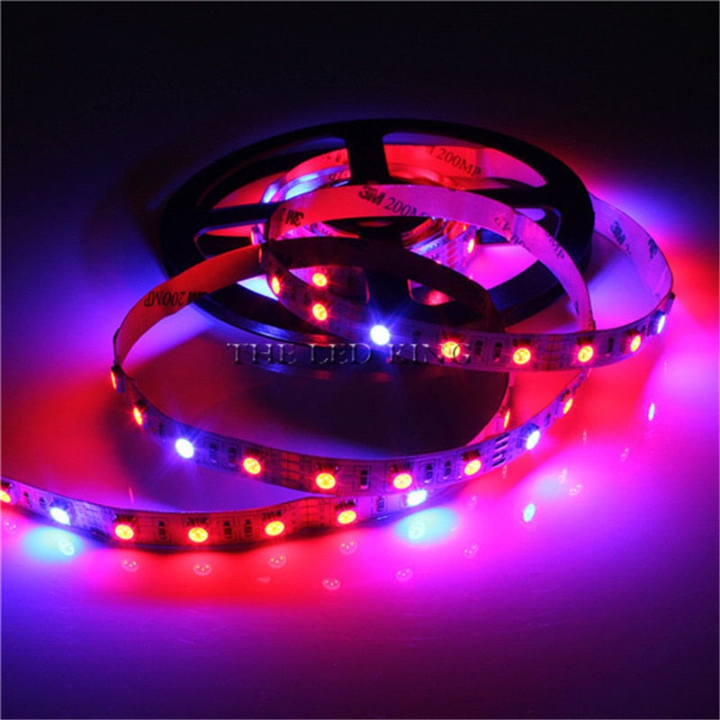 LED Phyto Lamps Full Spectrum LED Strip Light 5050 SMD LED Fitolampy Grow Lights 60leds/m For Greenhouse Hydroponic plant DC 12V