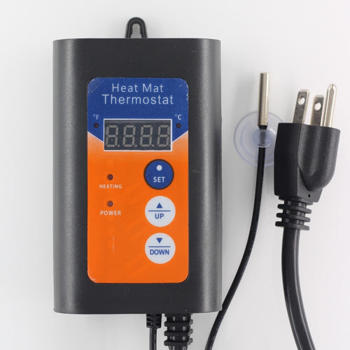 AC 230V 120V Heat mat thermostat, pet pad heating, plant germination heating,European, American plug can choose.
