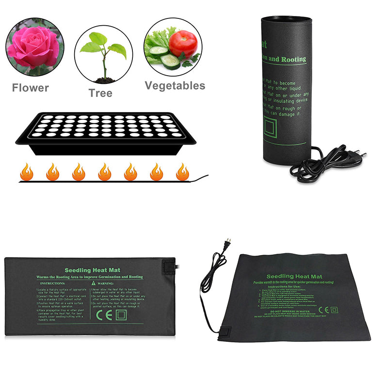 Hydroponics Plant Seedling Heating Mat Waterproof Heat Mat Seed Germination Propagation Clone Starter Warm Pad Garden Supplies