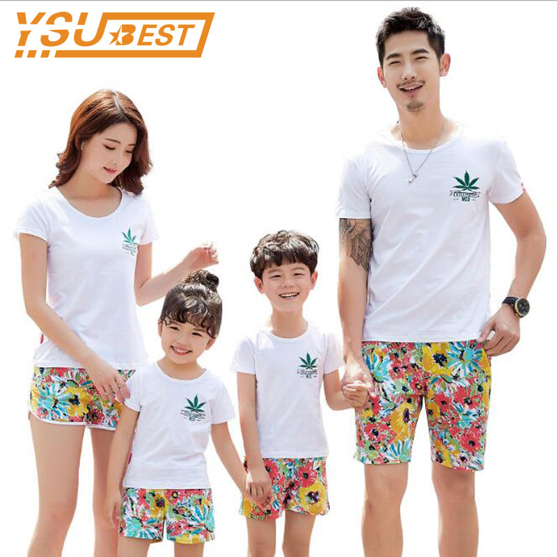 4ce08feac7a5 Family Clothes Set Family Look Matching Family Clothing 2018 Summer Father  Son Mother and Daughter T