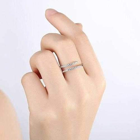 Barely There Ring In Pave Crystal Swirl