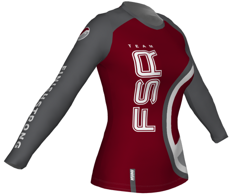 Running Shirt LONG Sleeve BURGUNDY DESERT - WOMEN