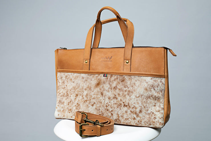 Somo ladies briefcase - tan bags