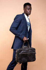 Deli Leather Laptop Briefcase Bag
