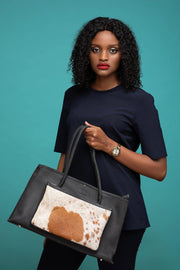 Sanga Leather Handbag- Black