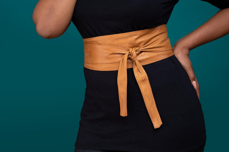 Nduku Obi belt - Wazawazi Leather