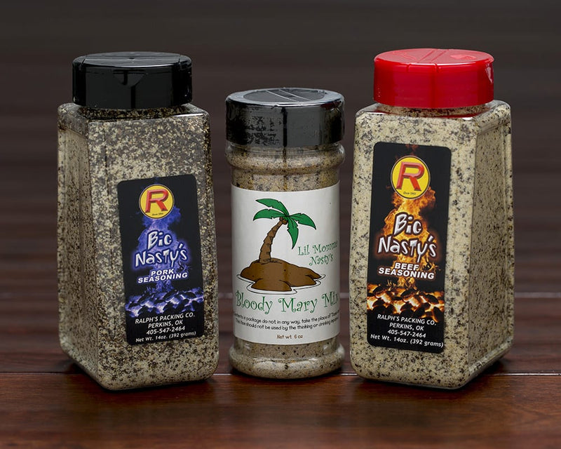Spices & Seasonings - 6 Bottles
