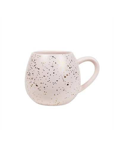 MINI HUG ME MUG/PINK-GOLD SPLATTER