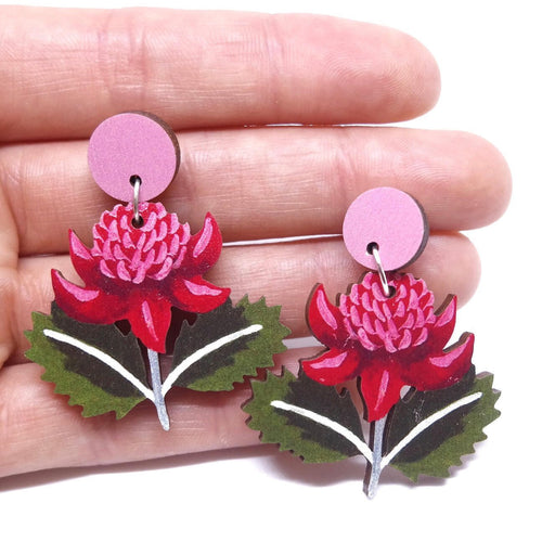 WARATAH EARRINGS - Pixie Nut & Co