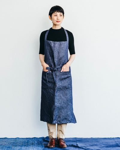 atelier apron: denim navy