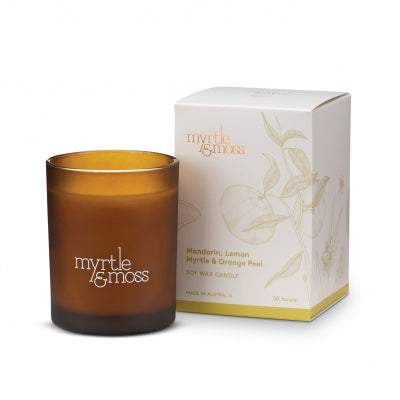 Myrtle & Moss - Soy Wax Candle - Mandarin, Lemon Myrtle & Orange Peel