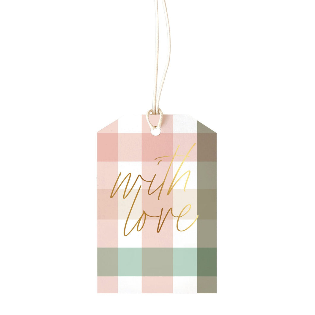 GINGHAM SOFT (with love) - Gift Tag