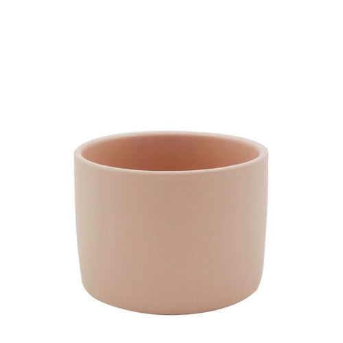 Cylinder Ceramic Pot Matte Blush