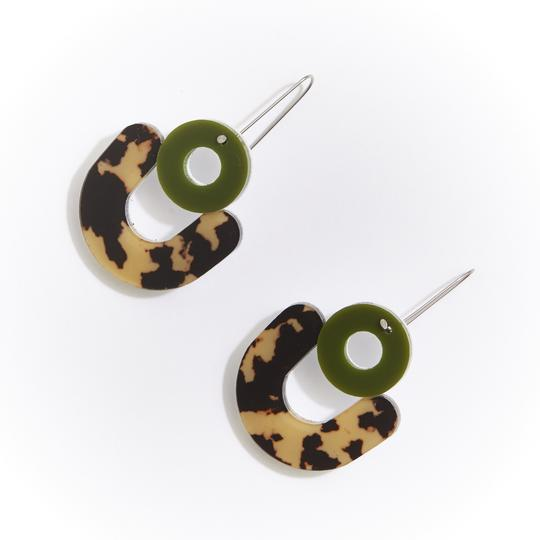 Cleo Earrings - Leopard Light
