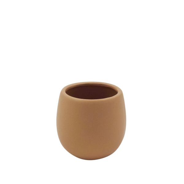 Small Ceramic Pot Matte Taupe
