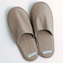 Load image into Gallery viewer, Linen Slippers Natural