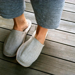 Linen Slippers Natural