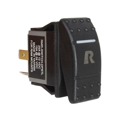 RAM DPST Rocker Switch with Light (RAM-SWITCH-DPSTL) - Mounts Russia - RAM Mounts Russia