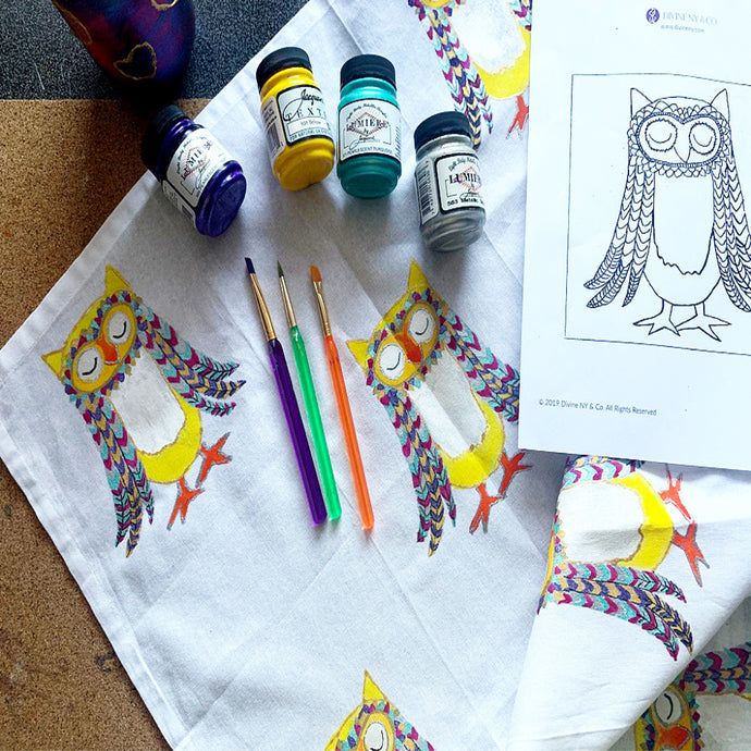 New Class on Skillshare: Fabric Painting On a Tea Towel