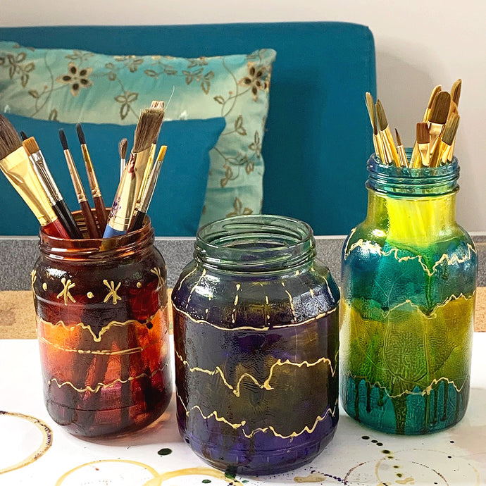 Glass Painting: Upcycle Glass Jars with Pebeo Vitrail Glass Paints