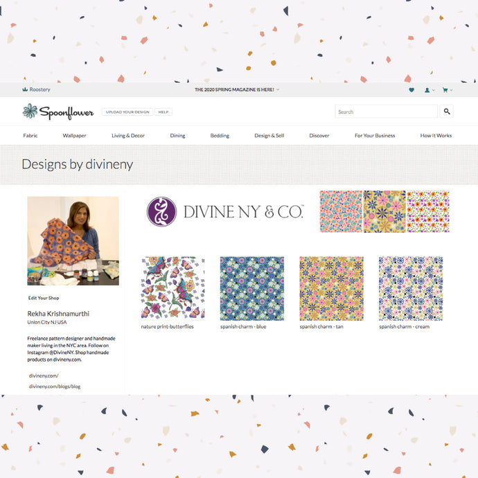Custom Fabrics:  DivineNY is open on Spoonflower!