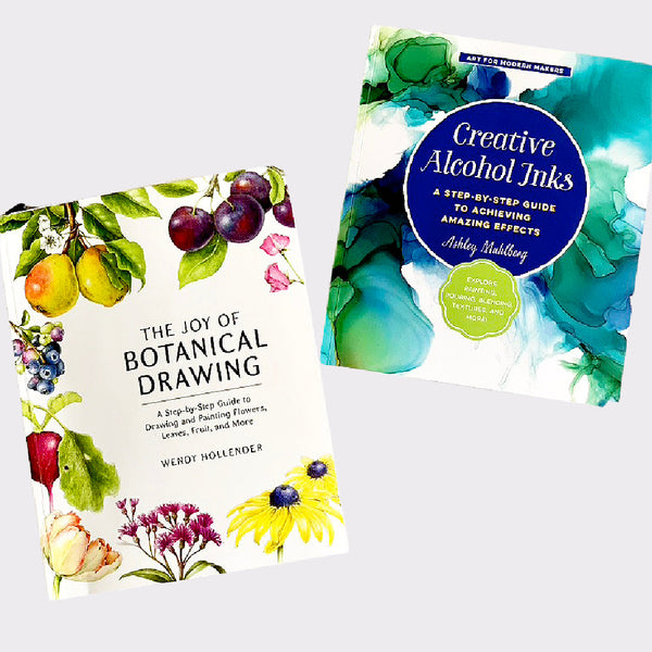 My 2 projects for #The100DayProject are Botanical Drawing and Alcohol Inks