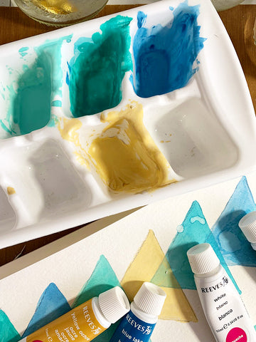 Watercolor - mixing colors | DivineNY.com
