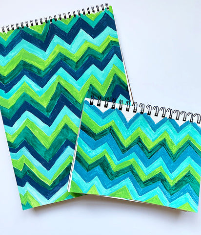 Zigzag pattern, watercolor sketch | DivineNY.com