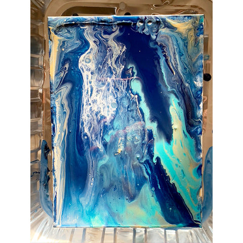 Paint pouring art - my finished work