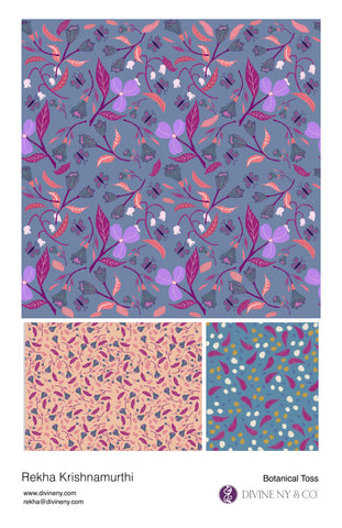Portfolio - botanical toss pattern mini collection