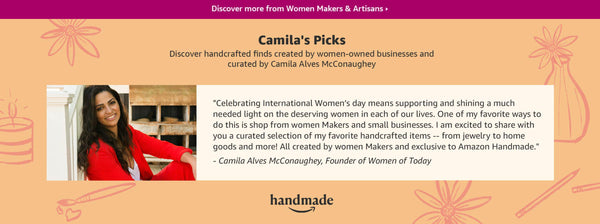 Camilla Alves McConaughey curated selection of handcrafted items