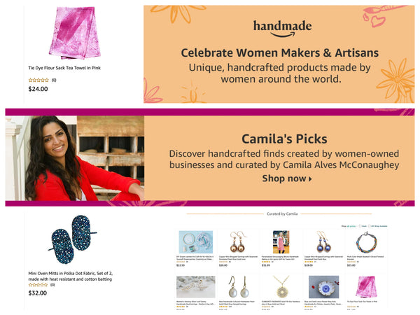 Amazon Handmade Curated Collection by Camilla Alves McConaughey
