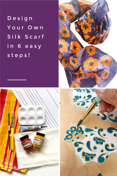 Design your own hand-painted silk scarf