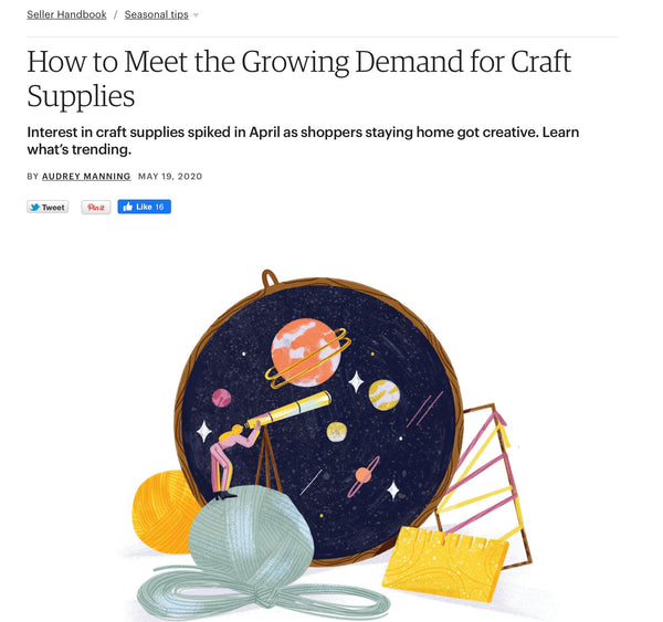 Etsy Feature - Growing Demand for Craft Supplies | DivineNY.com