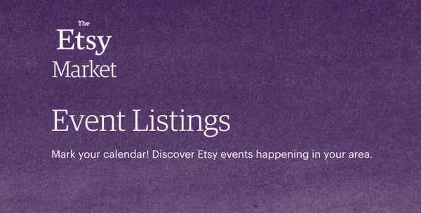 Etsy Virtual Event Listings