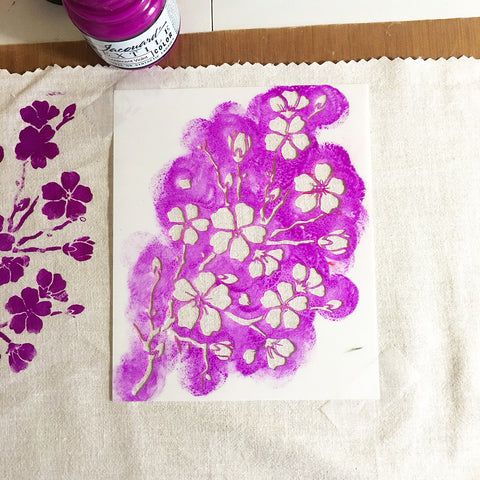 Fabric stenciling project