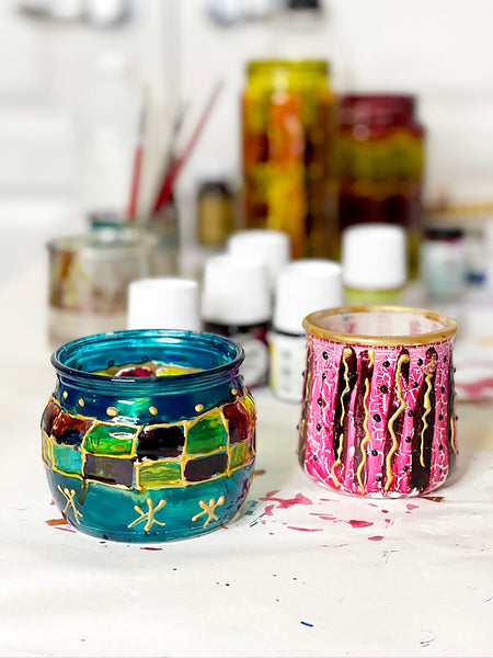 Glass painted examples