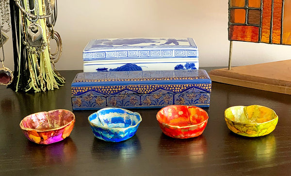 Our new hand painted ring dish sets offer a beautiful array of colors! | DivineNY.com