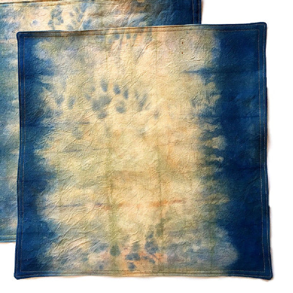 Portfolio - hand dyed placemats dip dyed in two colors