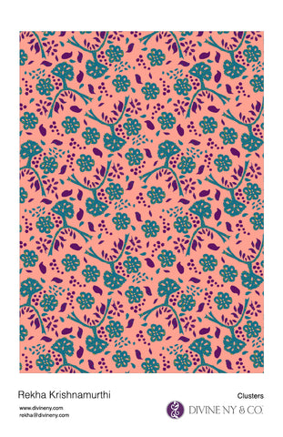 Surface pattern design called Clusters-DivineNY.com